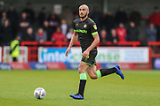 Forest Green Rovers Farrend Rawson(6) runs forward during the EFL Sky Bet League 2 match between Crawley Town and Forest Green Rovers at The People's Pension Stadium, Crawley, England on 6 April 2019.