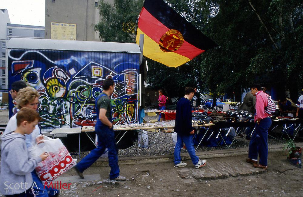 Fall of the Berlin Wall.Opening of the Berlin Wall, West Berlin, Germany, November 1989...©1989 Scott A. Miller