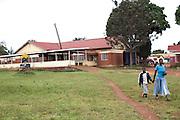 An external view of Kasangati Health Centre in Uganda.