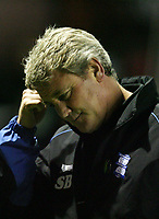 Photo: Rich Eaton.<br /> <br /> Birmingham City v Liverpool. Carling Cup. 08/11/2006. Steve Bruce pictured as his team lose 1-0 at home in the cup to Liverpool