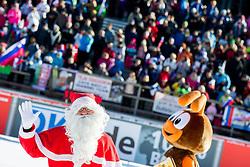 Santa Claus compete during Men 15 km Mass Start at day 4 of IBU Biathlon World Cup 2014/2015 Pokljuka, on December 21, 2014 in Rudno polje, Pokljuka, Slovenia. Photo by Vid Ponikvar / Sportida