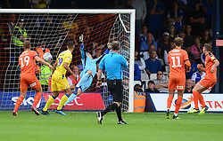 Jack Stacey of Luton Town scores but his goal is disallowed shortly after. - Mandatory by-line: Alex James/JMP - 15/09/2018 - FOOTBALL - Kenilworth Road - Luton, England - Luton Town v Bristol Rovers - Sky Bet League One