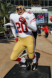 February 2, 2020, Miami Gardens, FL, USA: Lizzy Gilgenberg, a 49ers fan, poses for a photo before the San Francisco 49ers face off against the Kansas City Chiefs in Super Bowl LIV at Hard Rock Stadium in Miami Gardens, Fla., on Sunday, Feb. 2, 2020. (Credit Image: © TNS via ZUMA Wire)