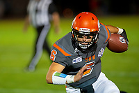 KELOWNA, BC - AUGUST 3:  Ethan Newman #6 of Okanagan Sun runs with the ball against the Kamloops Broncos at the Apple Bowl on August 3, 2019 in Kelowna, Canada. (Photo by Marissa Baecker/Shoot the Breeze)