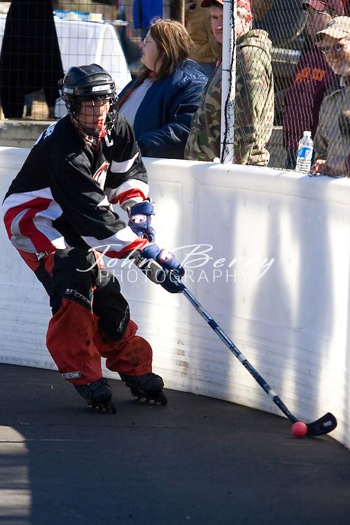Madison Hockey Tournament.Seniors-Black Hawks vs Sabres.February 24, 2007
