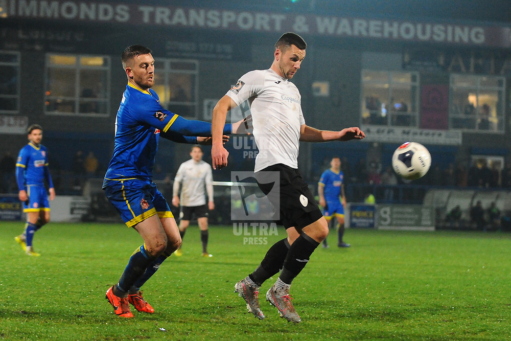 TELFORD COPYRIGHT MIKE SHERIDAN Aaron Williams of Telford  during the Vanarama Conference North fixture between AFC Telford United and Alfreton Town at the New Bucks Head Stadium on Thursday, December 26, 2019.<br /> <br /> Picture credit: Mike Sheridan/Ultrapress<br /> <br /> MS201920-036