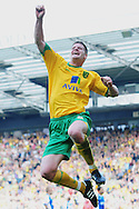 London - Saturday, April 17th 2010: Michael Neson of Norwich City celebrates his goal against Gillingham during the Coca Cola League One match at Carrow Road, Norwich..(Pic by Alex Broadway/Focus Images)