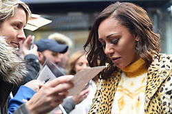 Spice Girls Melanie Brown speaks to fans outside Global Radio studios in Leicester Square, London.