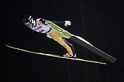 Poland, Wisla Malinka - 2017 November 18: Markus Schiffner from Austria soars through the air during FIS Ski Jumping World Cup Wisla 2017/2018 - Day 1 at jumping hill of Adam Malysz on November 18, 2017 in Wisla Malinka, Poland.<br /> <br /> Mandatory credit:<br /> Photo by &copy; Adam Nurkiewicz<br /> <br /> Adam Nurkiewicz declares that he has no rights to the image of people at the photographs of his authorship.<br /> <br /> Picture also available in RAW (NEF) or TIFF format on special request.<br /> <br /> Any editorial, commercial or promotional use requires written permission from the author of image.