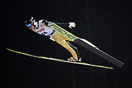 Poland, Wisla Malinka - 2017 November 18: Markus Schiffner from Austria soars through the air during FIS Ski Jumping World Cup Wisla 2017/2018 - Day 1 at jumping hill of Adam Malysz on November 18, 2017 in Wisla Malinka, Poland.<br /> <br /> Mandatory credit:<br /> Photo by © Adam Nurkiewicz<br /> <br /> Adam Nurkiewicz declares that he has no rights to the image of people at the photographs of his authorship.<br /> <br /> Picture also available in RAW (NEF) or TIFF format on special request.<br /> <br /> Any editorial, commercial or promotional use requires written permission from the author of image.