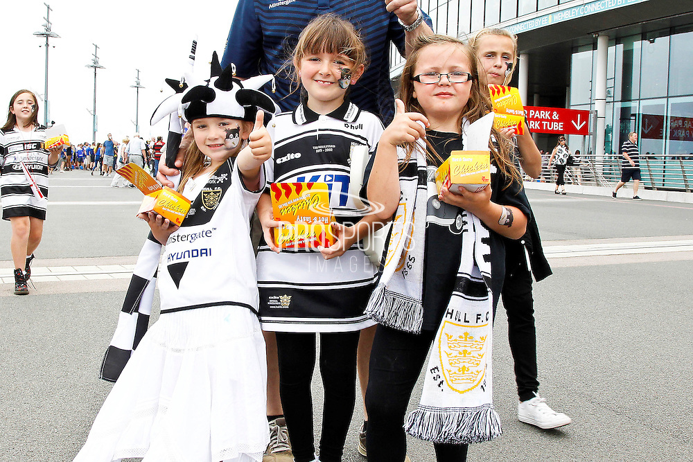 Junior Hull FC fans at the Challenge Cup Final 2016 match between Warrington Wolves and Hull FC at Wembley Stadium, London, England on 27 August 2016. Photo by Craig Galloway.