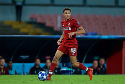 NAPLES, ITALY - Wednesday, October 3, 2018: Liverpool's Trent Alexander-Arnold during the UEFA Champions League Group C match between S.S.C. Napoli and Liverpool FC at Stadio San Paolo. (Pic by David Rawcliffe/Propaganda)