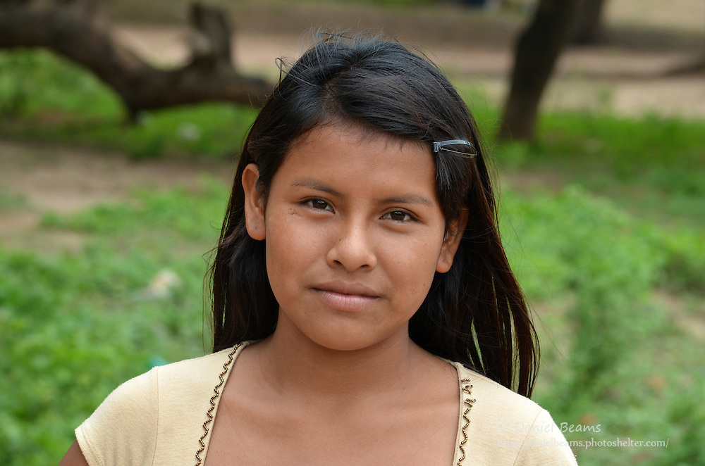 Guarani girl in Yapiroa, Izozog, Santa Cruz, Bolivia