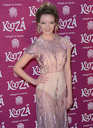 Dakota Blue Richards attends  Cirque Du Soleil Kooza Press Night  at The Royal Albert Hall, Kensington Gore, London on Tuesday 6 January 2015