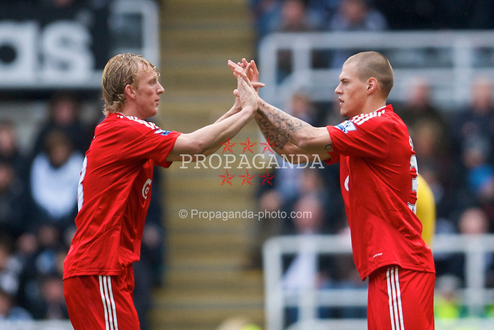 NEWCASTLE, ENGLAND - Sunday, December 28, 2008: Liverpool's Martin Skrtel replaces Dirk Kuyt against Newcastle United during the Premiership match at St James' Park. (Photo by David Rawcliffe/Propaganda)