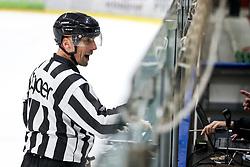 Linesman Matjaz Hribar - Hribcek during ice hockey match between HK SZ Olimpija and HDD SIJ Acroni Jesenice in second game of Final at Slovenian National League, on April 25, 2019 in Hala Tivoli, Ljubljana, Slovenia. Photo by Matic Klansek Velej / Sportida