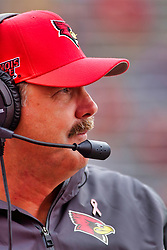 NORMAL, IL - October 06:  Brock Spack during a college football game between the ISU (Illinois State University) Redbirds and the Western Illinois Leathernecks on October 06 2018 at Hancock Stadium in Normal, IL. (Photo by Alan Look)