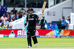 Henry Nicholls of New Zealand celebrates reaching 50 - Mandatory by-line: Robbie Stephenson/JMP - 14/07/2019 - CRICKET - Lords - London, England - England v New Zealand - ICC Cricket World Cup 2019 - Final