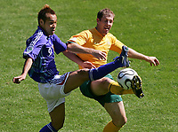 v.l. Naohiro Takahara, Scott Chipperfield<br /> Fussball WM 2006 Australien - Japan<br /> Australia<br /> <br /> Norway only