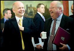 (LtoR) William Hague and Eric Pickles attend the first Cabinet meeting inside the Cabinet room, 10 Downing Street, London, UK, Thursday May 13, 2010. Photo By Andrew Parsons / i-Images