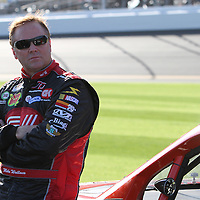 Nationwide driver Mike Wallace at Daytona International Speedway on February 18, 2011 in Daytona Beach, Florida. (AP Photo/Alex Menendez)