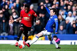 Fred of Manchester United takes on Bernard of Everton - Mandatory by-line: Robbie Stephenson/JMP - 01/03/2020 - FOOTBALL - Goodison Park - Liverpool, England - Everton v Manchester United - Premier League