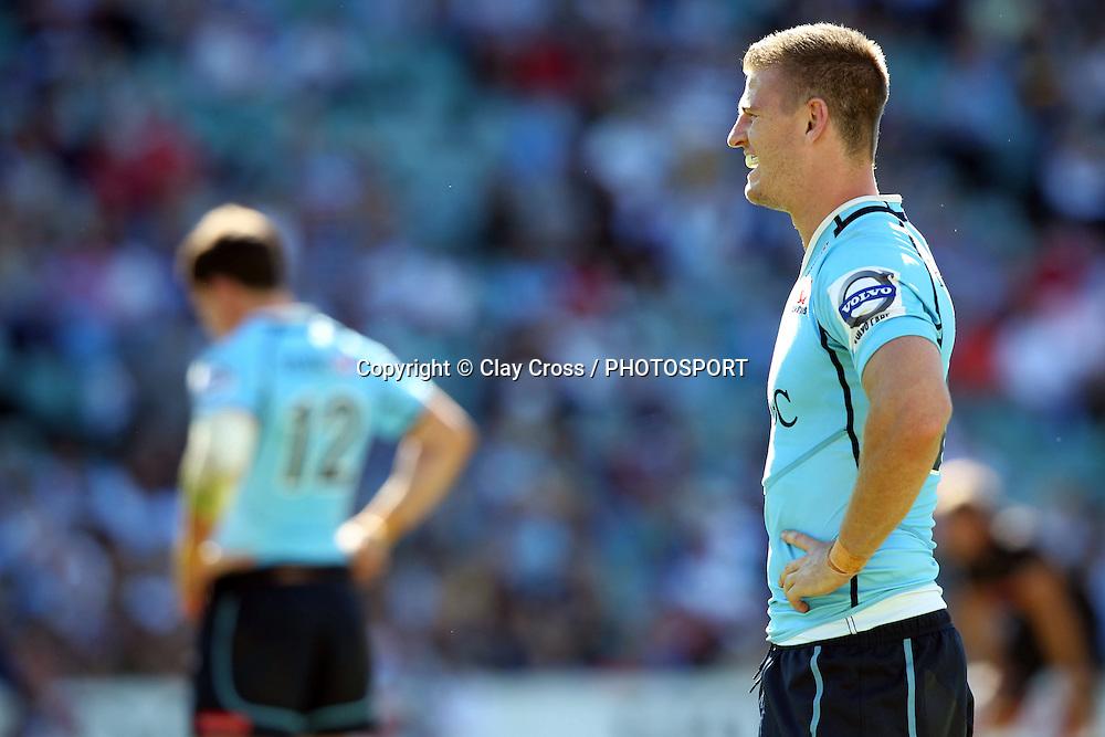 Robert Horne. Waratahs v Sharks. 2012 Super Rugby round 5 match. Allianz Stadium, Sydney Australia on Saturday 24 March 2012. Photo: Clay Cross / photosport.co.nz