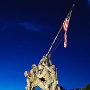 Iwo Jima Memorial, Arlington, Virginia, in the evening Editorial use only.