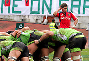 Munster's Ronan O'Gara scratches his head whilst waiting for the srum. Montauban v Munster,  Heineken Cup Pool A match in Montauban, France. 25th Jan 09