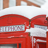 Richmond - England  Feb 2nd  Pnonebox in the snow. The snow which crippled South East England this morning will stay with the UK for the rest of the week, forecasters warn,...***Standard Licence  Fee's Apply To All Image Use***.Marco Secchi. tel +44 (0) 845 050 6211. e-mail ms@msecchi.com .www.marcosecchi.com