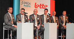 02.02.2011, Omega Pharma, Adegem, BEL, official presentation to the press of Belgian cycling team Omega Pharma-Lotto, im Bild Staff of Omega Pharma-Lotto pictured during the official presentation to the press of Belgian cycling team Omega Pharma-Lotto, Wednesday 02 February 2011, in Adegem. EXPA Pictures © 2011, PhotoCredit: EXPA/ nph/  Laurent Dubrule        ****** out of GER / SWE / CRO  / BEL ******