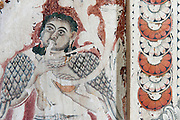 The walls of this temple have some of the finest examples of temple mural painting.<br /> Shailabimbarama Buddhist Temple in Dodanduwa.