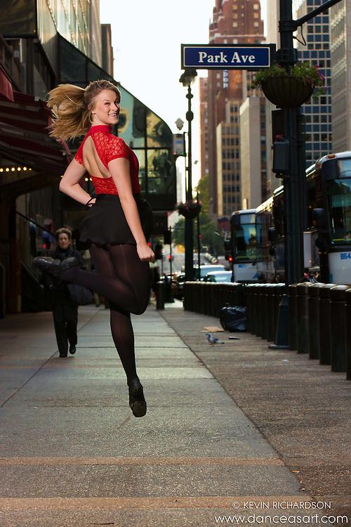 42nd Street Dance As Art Photography  New York City featuring dancer Cana Rohde.