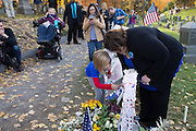 Voters visit the gravesite of Susan B. Anthony, the social reformer who played a key part in the movement for women's suffrage, at Mount Hope Cemetery in Rochester on Tuesday, November 8, 2016.