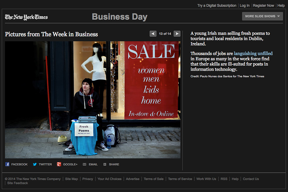 "Screengrab of ""Mismatch Skills in Ireland"" published in The New York Times"