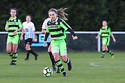Forest Green Rovers Issy Newns(10) runs forward during the South West Womens Premier League match between Forest Greeen Rovers Ladies and Marine Academy Plymouth LFC at Slimbridge FC, United Kingdom on 5 November 2017. Photo by Shane Healey.