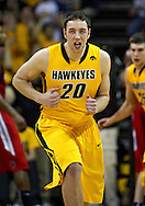 January 27, 2010: Iowa forward Andrew Brommer (20) is pumped up during the first half of their game at Carver-Hawkeye Arena in Iowa City, Iowa on January 27, 2010. Ohio State defeated Iowa 65-57.