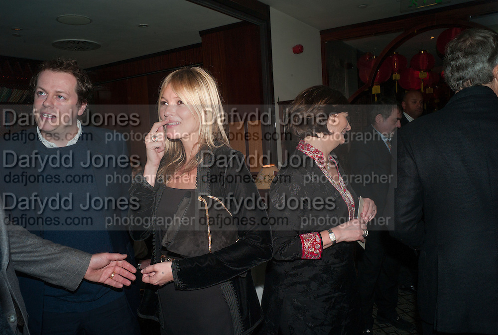 TOM PARKER BOWLES; KATE MOSS, Chinese New Year dinner given by Sir David Tang. China Tang. Park Lane. London. 4 February 2013.