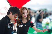 November 19-22, 2015: Lamborghini Super Trofeo at Sebring Intl Raceway. Lamborghini grid girl
