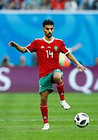 Mbark Boussoufa (Morocco)<br /> Saint Petersburg 15-06-2018 Football FIFA World Cup Russia  2018 <br /> Morocco - Iran / Marocco - Iran <br /> Foto Matteo Ciambelli/Insidefoto