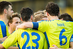 Players of Domzale celebrate during football match between NK Domzale and FC Luka Koper in 28th Round of Prva liga Telekom Slovenije 2015/16, on April 6, 2016 in Sports park Domzale, Slovenia. Photo by Vid Ponikvar / Sportida