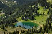 Image Lake seen from Miner's Ridge, Glacier Peak Wilderness North Cascadses Washington