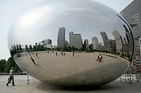 The Cloud Gate on AT&T Plaza in Millenium Park, Chicago, Illinois
