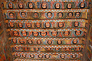 GONDAR, GONDAR/ETHIOPIA..Painted wooden ceiling at Debre Birhan Selassie Church..(Photo by Heimo Aga)