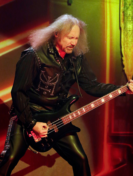 Ian Hill of Judas Priest performs on Tuesday, April 24, 2018, in Phoenix, Arizona. (AP Images/Rick Scuteri)