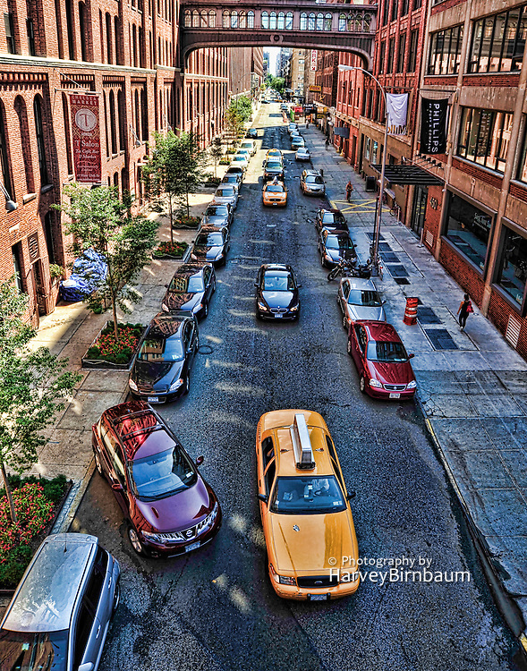 New York City Street with traffic.