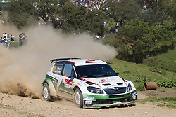 13.04.2013, Stage 3, Vilamoura, PRO, FIA WRC, Rallye Portugal, im Bild WIEGAND Sepp/ CHRISTIAN Frank ( SKODA AUTO DEUTSCHLAND (DEU)/ SKODA FABIA S2000 ), Aktion / Action, // during the FIA WRC Rallye of Portugal, Stage 3, Vilamoura, Portugal on 2013/04/13. EXPA Pictures © 2013, PhotoCredit: EXPA/ Eibner/ Alexander Neis..***** ATTENTION - OUT OF GER *****