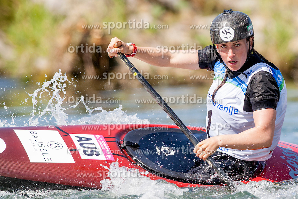 Rosalyn Lawrence of Australia during Canoe(C1) Women semi-final race at ICF Canoe Slalom World Cup Sloka 2013, on August 17, 2013, in Tacen, Ljubljana, Slovenia. (Photo by Urban Urbanc / Sportida.com)