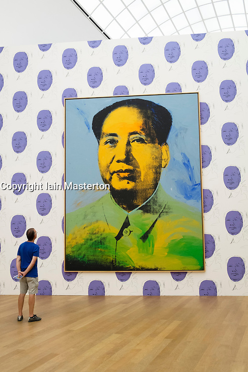 Portrait of Mao by Andy Warhol at Hamburger Bahnhof Art Museum in Berlin Germany
