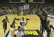 February 2 2011: Michigan State Spartans forward Draymond Green (23) puts up a shot during the first half of an NCAA college basketball game at Carver-Hawkeye Arena in Iowa City, Iowa on February 2, 2011. Iowa defeated Michigan State 72-52.